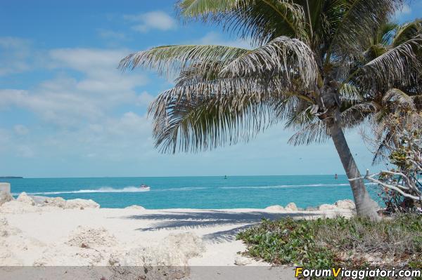 Key West: la spiaggia di Fort Zachary.