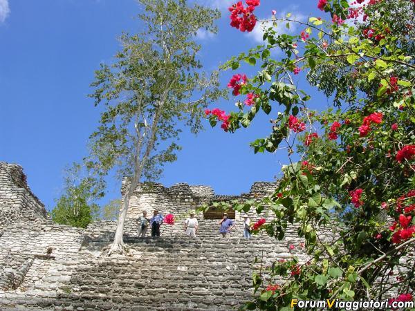 Uno dei  vari siti archeologici vicino a Chetumal