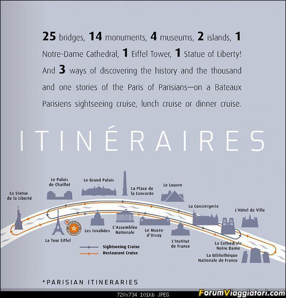 [FRANCIA - Parigi - Crociera Senna] Bateaux Parisiens River Cruise-itinerario.jpg